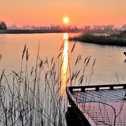 ijzige zonsopkomst
