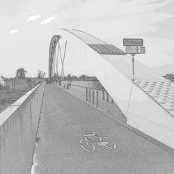 Bouwtekening nieuwe fietsbrug . .