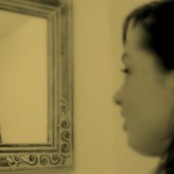 Fotoshoot Elke - spiegelbeeld 1-