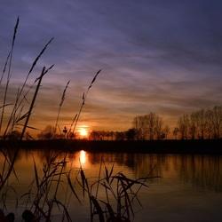 Avond over de Maas