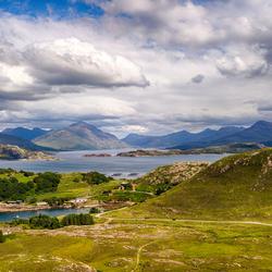 Prachtig uitzicht 'Highland' Schotland