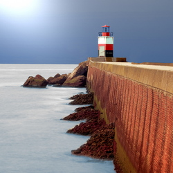 Lighthouse at North Sea