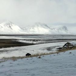 Landschap bij Budakirkja, IJsland