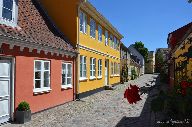Odense authentieke straat - Zo mooi, dat ze in Denemarken oudentieke straten hebben behouden.  Heel charmant.