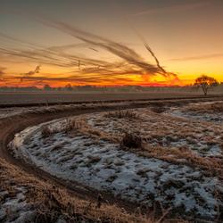 Mooie zonsopkomst in Lieren