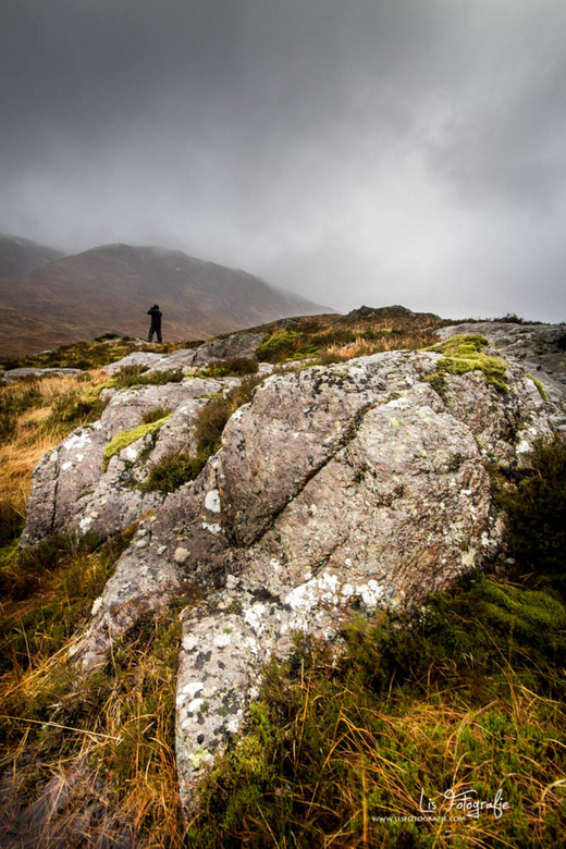On the rocks - Tijdens een mistige dag in de highlands (Schotland).
