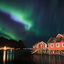 The lights over Reine