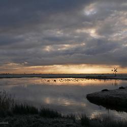 zonsopkomst polder Eemnes