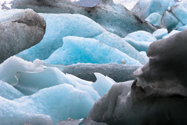 Jökulsárlón - Detail uit het ijsbergenmeer, Jökulsárlón