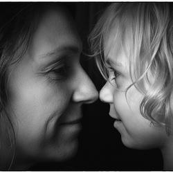 Moeder-dochter moment