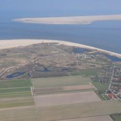 Texel en Vlieland vanuit de lucht