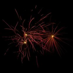 Vuurwerk tijdens carnaval 2010