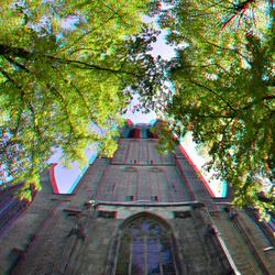 Voorgevel Oude-kerk Delft Rokinon 8mm fish-eye