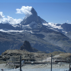 Uitzicht op de Matterhorn
