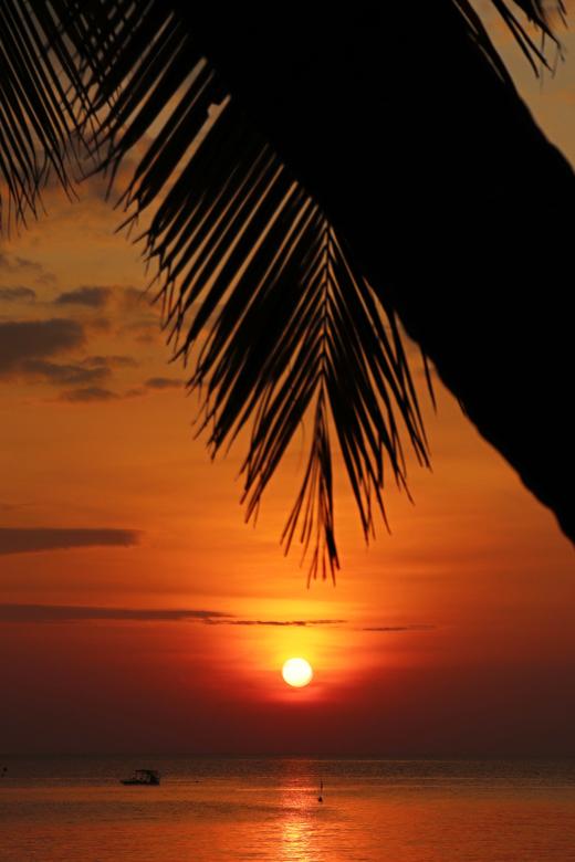 Zonsondergang Azie - Tijdens onze wereldreis is mijn petekindje geboren, op de dag van zijn geboorte heb ik samen met mijn vriend op hem geproost en n