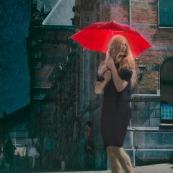 The red umbrella (edit)
