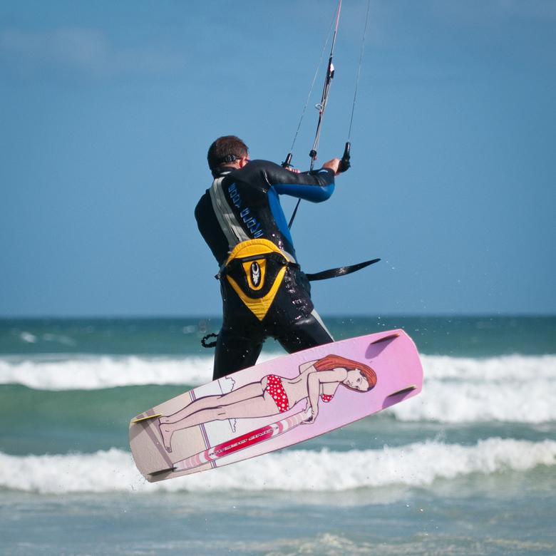 funny board - De onderkant van je kite-board is heel belangrijk...