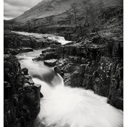 Waterval Glen Etive, Glencoe Area, Schotland