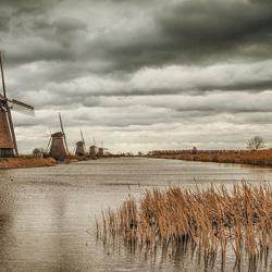Hollandse luchten boven Hollandse molens