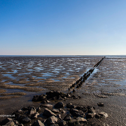 Kust van Ameland aan de Noordzee kant