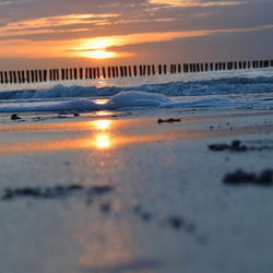 Brandend zand