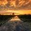 Zonsondergang in Kinderdijk