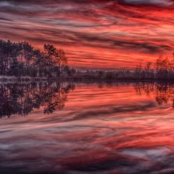 Pannenhoef zonsondergang