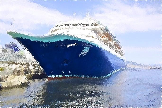 Big Schip ... - in a wave ...