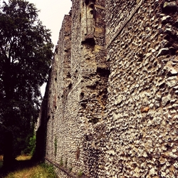 muur van een kasteel