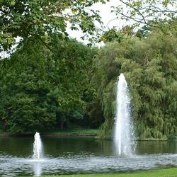 Fonteinen in het park