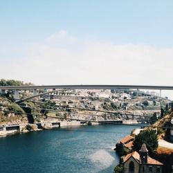 De rivier in Porto