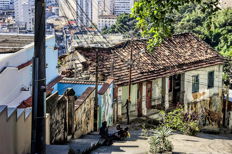 Wonen in Rio. - Foto gemaakt in de wijk Santa Teresa.