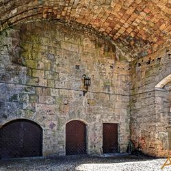 toegangspoort tot het kasteel van Rhodos