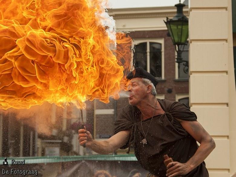 Vuurspuwer Kaeskoppenstad - De vuurspuwer in Kaeskoppenstad Alkmaar.