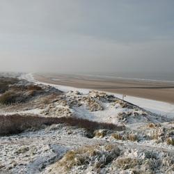 De duinen in hun winterkleed