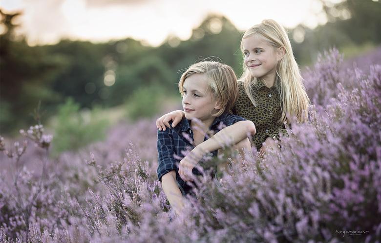 Bo en Max - Familieshoot op de Brunssummerheide van deze broer en zus