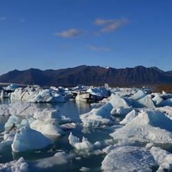 Smeltende gletsjermeer in IJsland