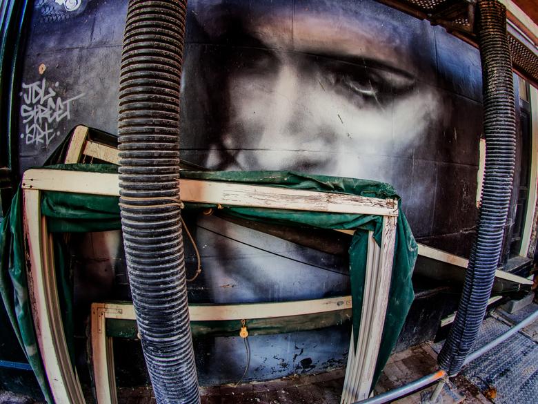 Markies snoert de mond,,, - Tijdens m&#039;n vorige uitstap met Cees Buitendijk kwamen we dit &#039;verborgen&#039; portret tegen. <br /> <br /> Zie