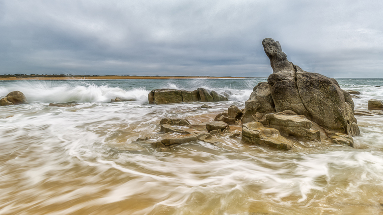 Uitgestorven - De zuidkust van Bretagne, waar we in mei waren. In dit op dat moment uitgestorven gebied, daar waar de rivier de Etel uitmondt in de Go