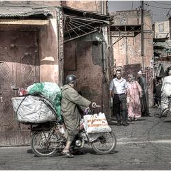 Op straat in Marrakech