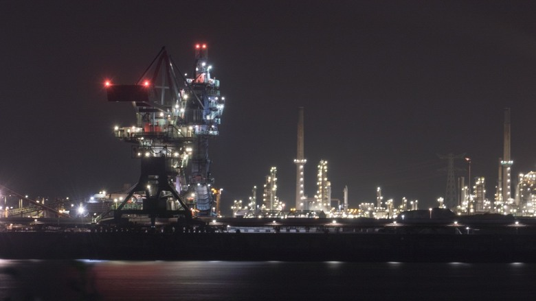 Haven Rotterdam - Avond nachtfotografie Botlek.