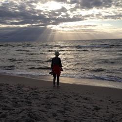 Zonsondergang Oostzee