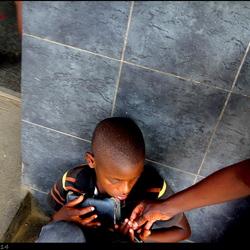 Bedelend jongetje Zambia