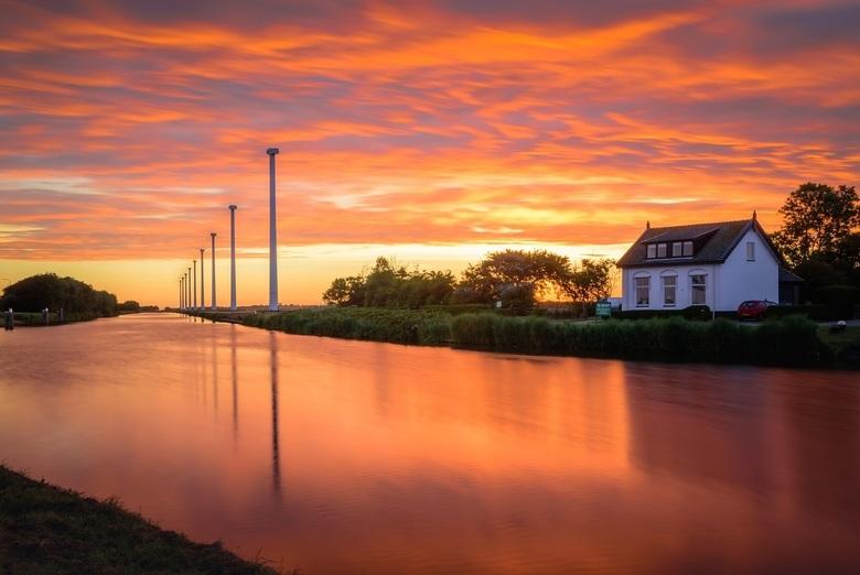 Burgervlotbrug - Sky on fire