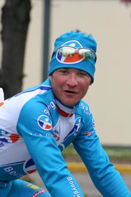 Voeckler - Vandaag de voorbereidingen van de Amstel Gold Race voor morgen. Bij diverse hotels langs geweest om de foto's te maken voor de sites.