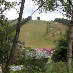Sankt Andreasberg - uitzicht op de rodelbaan