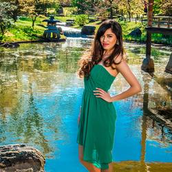 Lady in green dress