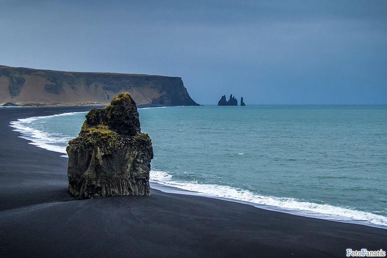 Vík, Iceland - The beautiful black beaches and rock formations near Vík.
