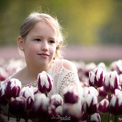 Het meisje en de tulpen