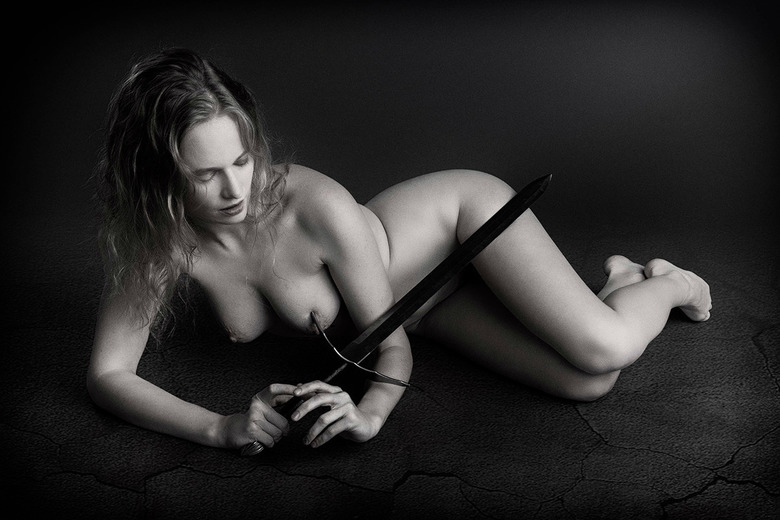 Dovile with sword -